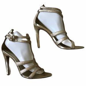 Jessica Simpson // Alaya Gold Metallic Heels